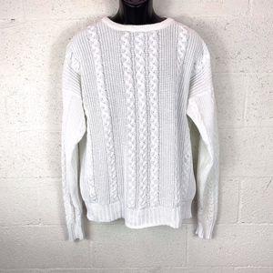 Christian Dior Sz L Knitted Crochet Sweater